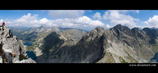 Panoramatický výhľad, Rysy, Vysoké Tatry