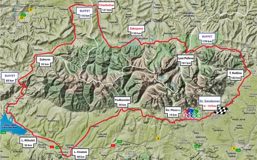 Vysoké Tatry Tour, Medzinárodný cyklomaratón okolo Vysokých Tatier, mapa